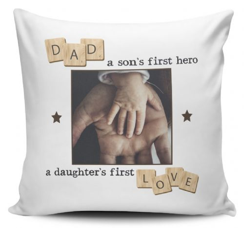 Personalised Dad, A Son's First Hero, A Daughter's  First Love  Cushion Cover